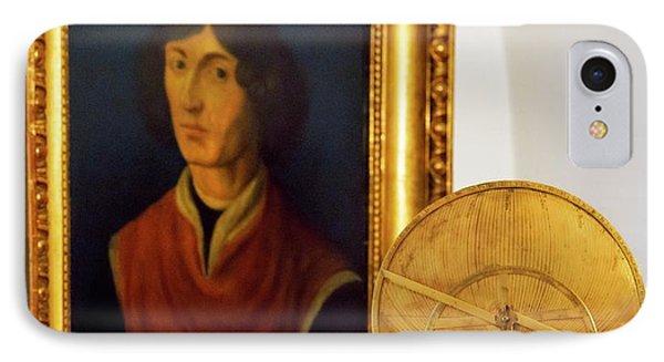 Astrolabe And Portrait Of Copernicus IPhone Case by Babak Tafreshi