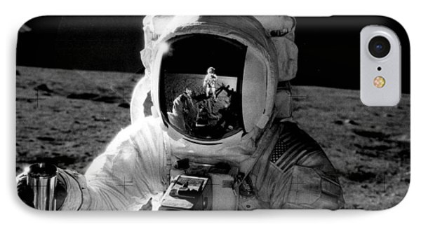 Astronaut On The Moon IPhone Case by Retro Images Archive