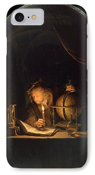 Astronomer By Candlelight IPhone Case by Gerrit Dou