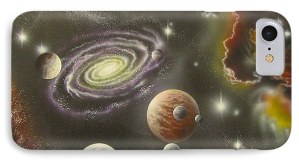 Astronomy Themed Display Table-2 IPhone Case by Sam Del Russi