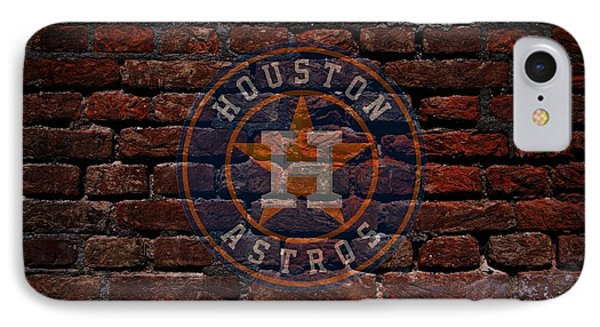 Astros Baseball Graffiti On Brick  IPhone Case by Movie Poster Prints