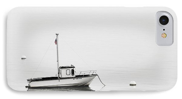 At Anchor Bar Harbor Maine Black And White IPhone Case