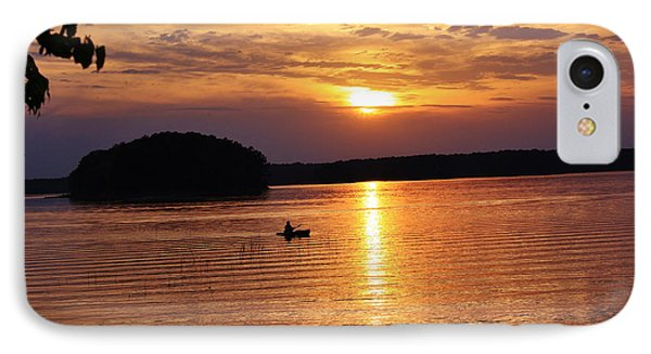 At Peace On The Lake IPhone Case by Marilyn Carlyle Greiner