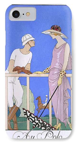 At Polo IPhone Case by Georges Barbier