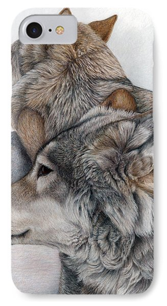 IPhone Case featuring the painting At Rest But Ever Vigilant by Pat Erickson