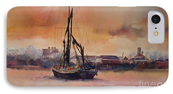 IPhone Case featuring the painting At Rest On The Thames London by Beatrice Cloake