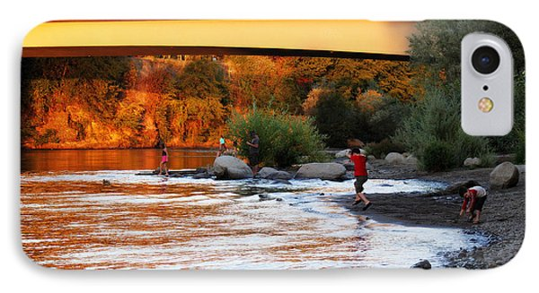 IPhone Case featuring the photograph At Rivers Edge by Melanie Lankford Photography