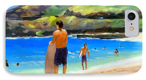 At Sandy Beach IPhone Case by Douglas Simonson