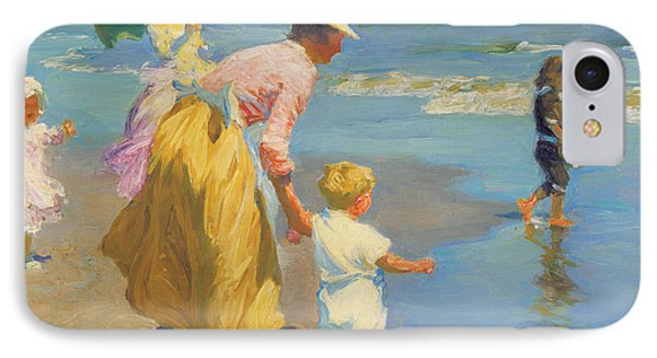 At The Beach Phone Case by Edward Potthast
