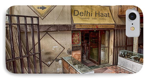 IPhone Case featuring the digital art At The Delhi Haat Market by John Hoey