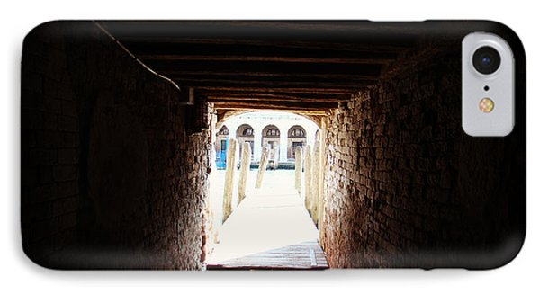 At The End Of The Tunnel IPhone Case by Zinvolle Art