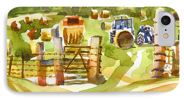 At The Farm Baling Hay Phone Case by Kip DeVore