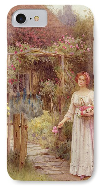 At The Garden Gate IPhone Case by William Affleck