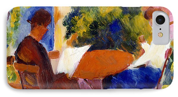 Garden iPhone 7 Case - At The Garden Table by August Macke