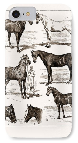 At The Islington Horse Show, London, Uk, 1875 1 IPhone Case by Litz Collection