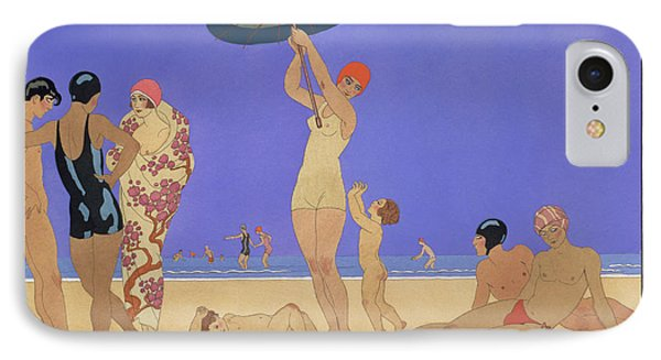 At The Lido Phone Case by Georges Barbier
