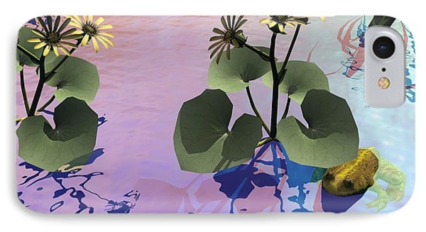 IPhone Case featuring the digital art At The Pond by John Pangia