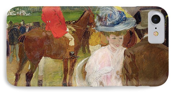 At The Races At Auteuil IPhone Case by Leon Georges Carre