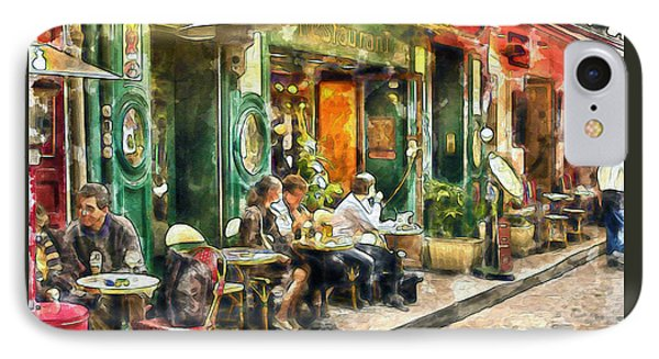 At The Restaurant In Paris IPhone Case by Marian Voicu