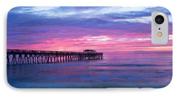 Myrtle Beach State Park Pier Sunrise IPhone Case by Vizual Studio