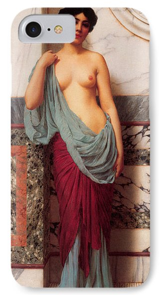 At The Thermae Phone Case by John William Godward