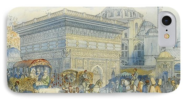 At The Tophane Fountain IPhone Case by Amadeo Preziosi