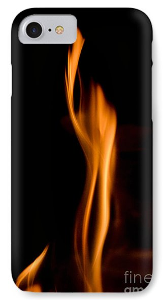 At845903 Fire Statue IPhone Case by Karl Thomas
