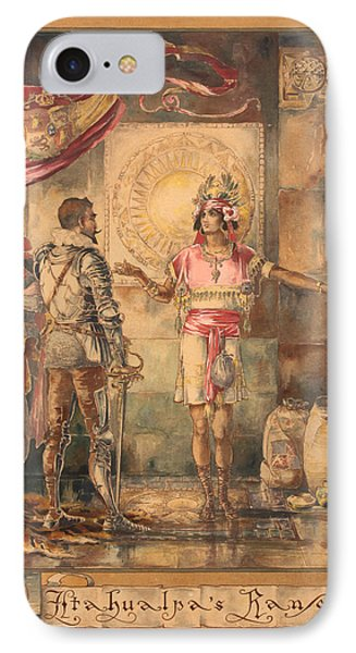 Atahualpa's Ransom Helen Maitland Armstrong IPhone Case by Paul Ashby Antique Paintings