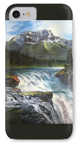Athabasca Falls Phone Case by LaVonne Hand