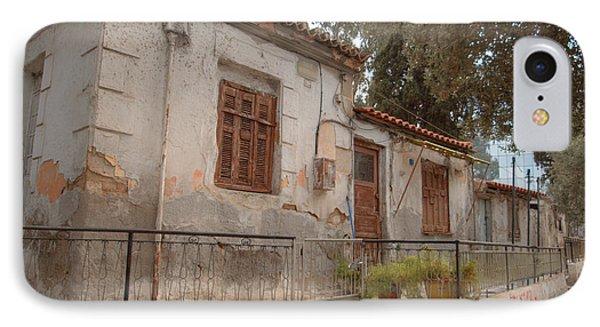 Athens Street Ruin Phone Case by Deborah Smolinske
