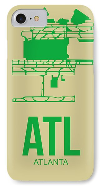 Atl Atlanta Airport Poster 1 IPhone Case by Naxart Studio