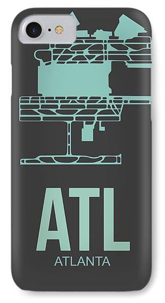 Atl Atlanta Airport Poster 2 IPhone Case by Naxart Studio