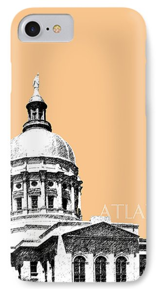 Atlanta Capital Building - Wheat IPhone Case by DB Artist