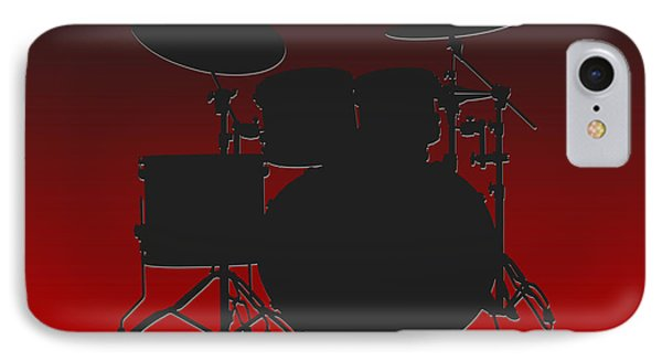 Atlanta Falcons Drum Set IPhone Case by Joe Hamilton