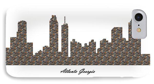 Atlanta Georgia 3d Stone Wall Skyline IPhone Case