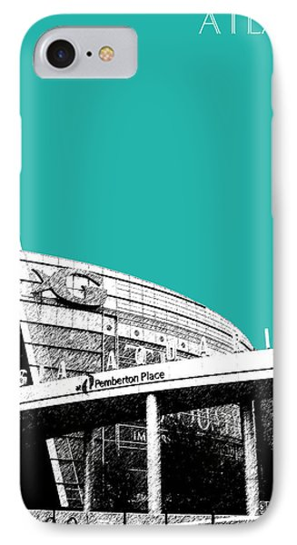 Atlanta Georgia Aquarium - Teal Green Phone Case by DB Artist