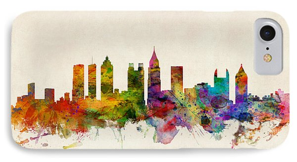 Atlanta Georgia Skyline Phone Case by Michael Tompsett