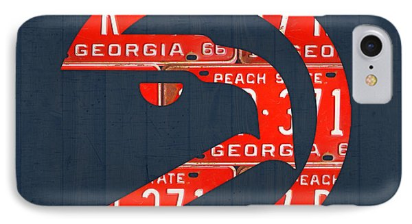 Atlanta Hawks Basketball Team Retro Logo Vintage Recycled Georgia License Plate Art IPhone Case