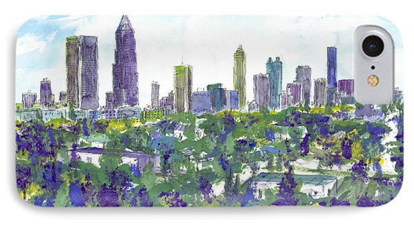 Atlanta In Cool Colors IPhone Case
