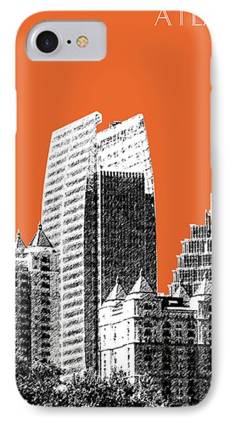 Atlanta Skyline 2 - Coral IPhone Case by DB Artist