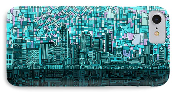 Atlanta Skyline Abstract 2 IPhone Case by Bekim Art