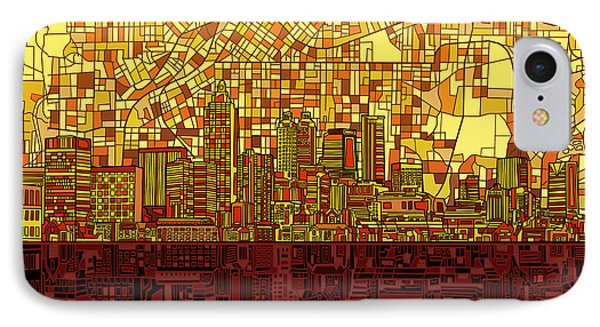 Atlanta Skyline Abstract 3 IPhone Case by Bekim Art
