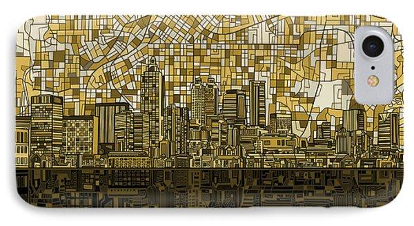 Atlanta Skyline Abstract IPhone Case