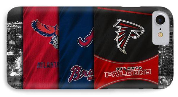 Atlanta Sports Teams IPhone Case by Joe Hamilton