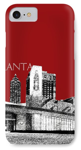 Atlanta World Of Coke Museum - Dark Red IPhone Case