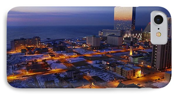 Atlantic City At Dawn IPhone Case by Joan Reese
