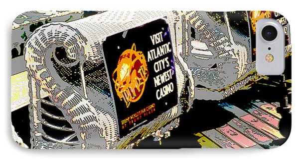 Atlantic City Nostalgia Boardwalk Rolling Chairs IPhone Case by A Gurmankin