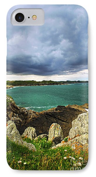 Atlantic Coastline In Brittany IPhone Case