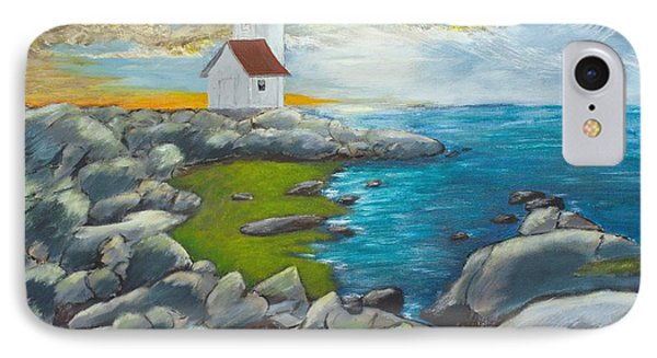 IPhone Case featuring the painting Atlantic Dusk by Cynthia Morgan