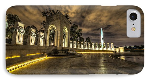 Atlantic Side Of The World War II Memorial IPhone Case by David Morefield